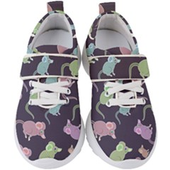 Animals Mouse Kids  Velcro Strap Shoes by Mariart