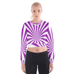 Background Whirl Wallpaper Cropped Sweatshirt