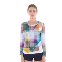 Abstract Background Women s Long Sleeve Tee by Mariart