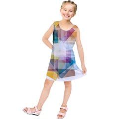 Abstract Background Kids  Tunic Dress by Mariart