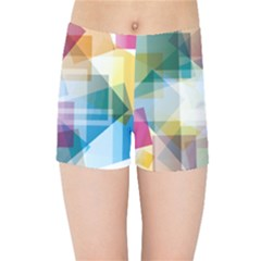 Abstract Background Kids  Sports Shorts