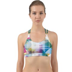 Abstract Background Back Web Sports Bra by Mariart