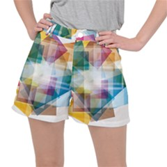 Abstract Background Stretch Ripstop Shorts