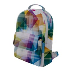 Abstract Background Flap Pocket Backpack (large) by Mariart