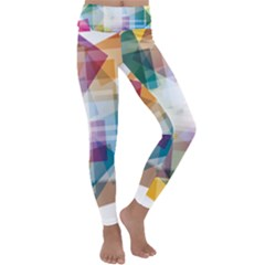 Abstract Background Kids  Lightweight Velour Classic Yoga Leggings by Mariart