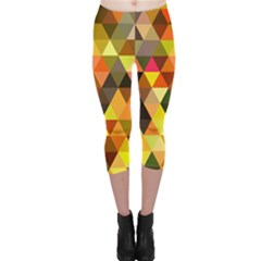 Abstract Geometric Triangles Shapes Capri Leggings