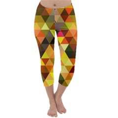 Abstract Geometric Triangles Shapes Capri Winter Leggings