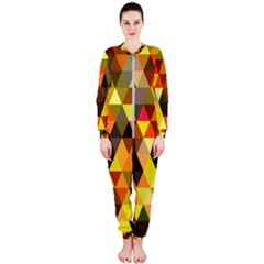 Abstract Geometric Triangles Shapes Onepiece Jumpsuit (ladies)