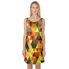 Abstract Geometric Triangles Shapes Sleeveless Satin Nightdress by Mariart
