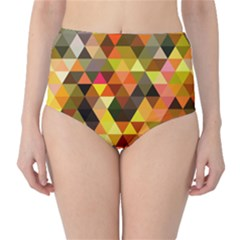 Abstract Geometric Triangles Shapes Classic High-waist Bikini Bottoms by Mariart