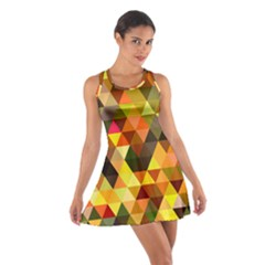 Abstract Geometric Triangles Shapes Cotton Racerback Dress by Mariart