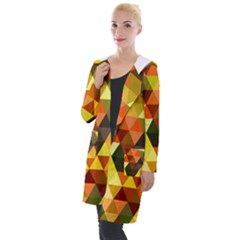 Abstract Geometric Triangles Shapes Hooded Pocket Cardigan by Mariart