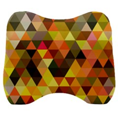 Abstract Geometric Triangles Shapes Velour Head Support Cushion by Mariart