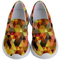 Abstract Geometric Triangles Shapes Kids  Lightweight Slip Ons by Mariart