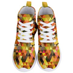 Abstract Geometric Triangles Shapes Women s Lightweight High Top Sneakers by Mariart