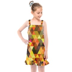 Abstract Geometric Triangles Shapes Kids  Overall Dress by Mariart