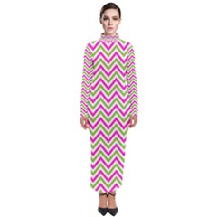 Abstract Chevron Turtleneck Maxi Dress by Mariart