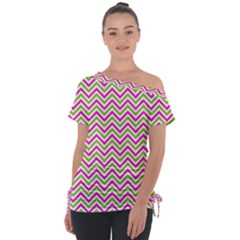 Abstract Chevron Tie Up Tee by Mariart