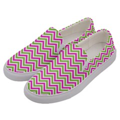 Abstract Chevron Men s Canvas Slip Ons by Mariart