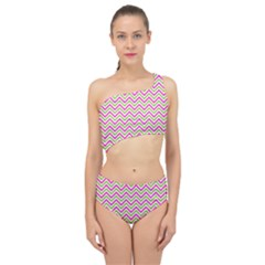 Abstract Chevron Spliced Up Two Piece Swimsuit by Mariart