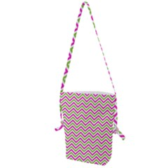 Abstract Chevron Folding Shoulder Bag by Mariart