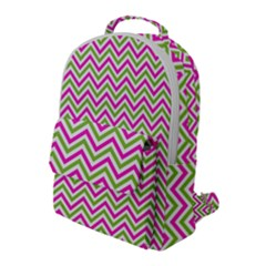 Abstract Chevron Flap Pocket Backpack (large) by Mariart