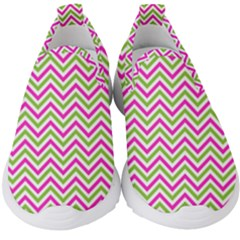 Abstract Chevron Kids  Slip On Sneakers by Mariart