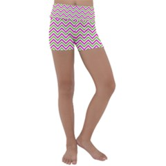 Abstract Chevron Kids  Lightweight Velour Yoga Shorts by Mariart