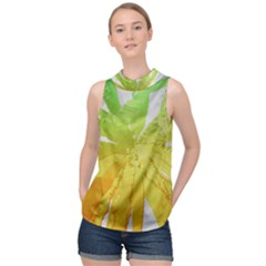 Abstract Background Tremble Render High Neck Satin Top