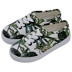 Botanical Illustration Palm Leaf Kids  Classic Low Top Sneakers by Mariart