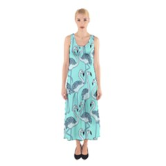Bird Flemish Picture Sleeveless Maxi Dress by Mariart