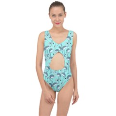 Bird Flemish Picture Center Cut Out Swimsuit by Mariart