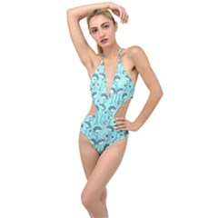 Bird Flemish Picture Plunging Cut Out Swimsuit by Mariart