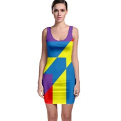 Colorful Red Yellow Blue Purple Bodycon Dress by Mariart