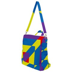 Colorful Red Yellow Blue Purple Crossbody Backpack