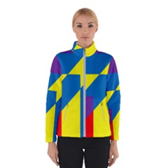Colorful Red Yellow Blue Purple Winter Jacket by Mariart