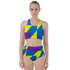 Colorful Red Yellow Blue Purple Racer Back Bikini Set by Mariart