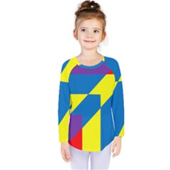 Colorful Red Yellow Blue Purple Kids  Long Sleeve Tee by Mariart