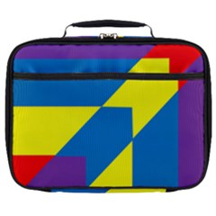 Colorful Red Yellow Blue Purple Full Print Lunch Bag by Mariart
