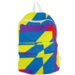 Colorful Red Yellow Blue Purple Foldable Lightweight Backpack by Mariart