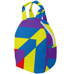 Colorful Red Yellow Blue Purple Travel Backpacks