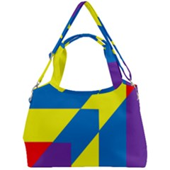 Colorful Red Yellow Blue Purple Double Compartment Shoulder Bag by Mariart