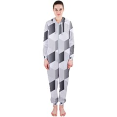 Cube Isometric Hooded Jumpsuit (ladies)