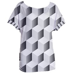 Cube Isometric Women s Oversized Tee by Mariart