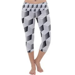 Cube Isometric Capri Yoga Leggings