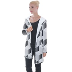 Cube Isometric Longline Hooded Cardigan by Mariart