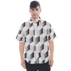 Cube Isometric Men s Short Sleeve Shirt by Mariart