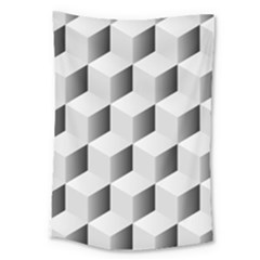 Cube Isometric Large Tapestry