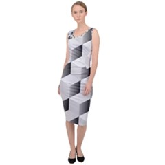 Cube Isometric Sleeveless Pencil Dress