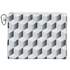 Cube Isometric Canvas Cosmetic Bag (xxl)